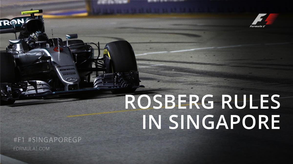 گرندپری سنگاپور؛ قهرمانی نیکو روزبرگ، همیلتون را به رده دوم جدول قهرمانی فرستاد