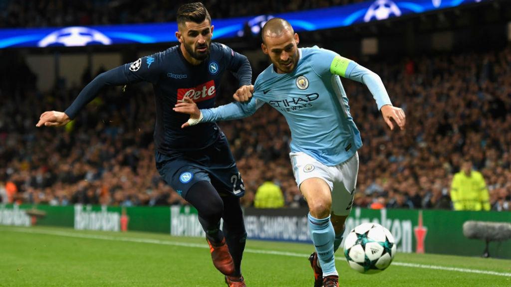 Manchester City - David Silva - Napoli - Uefa Champions League - منچسترسیتی - لیگ قهرمانان اروپا