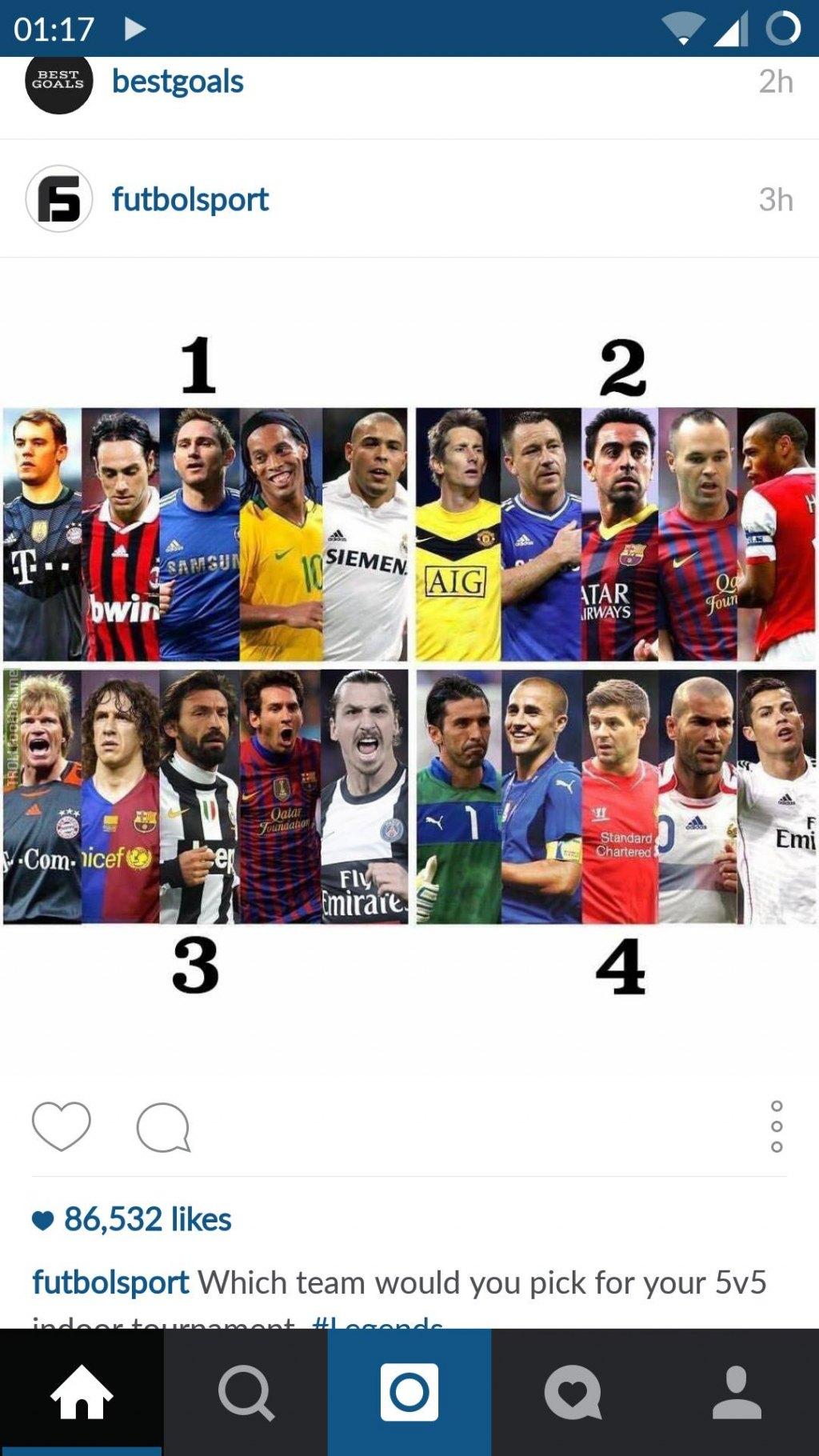 سوالی بسیار سخت!!!!  کدوم تیم 5 نمره رو انتخاب میکنید؟؟؟؟؟