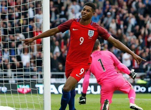 انگلستان 2-1 استرالیا؛ پیروزی سه شیرها با گلزنی رشفورد و رونی