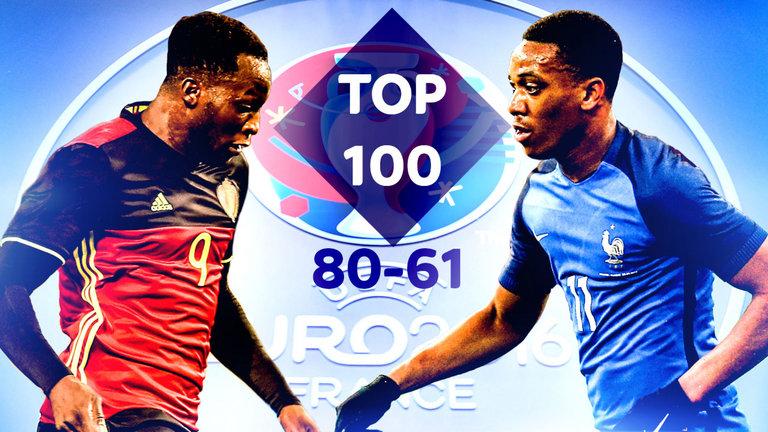 100 بازیکن برتر یورو 2016 از نگاهWhoScored  شماره 61-80