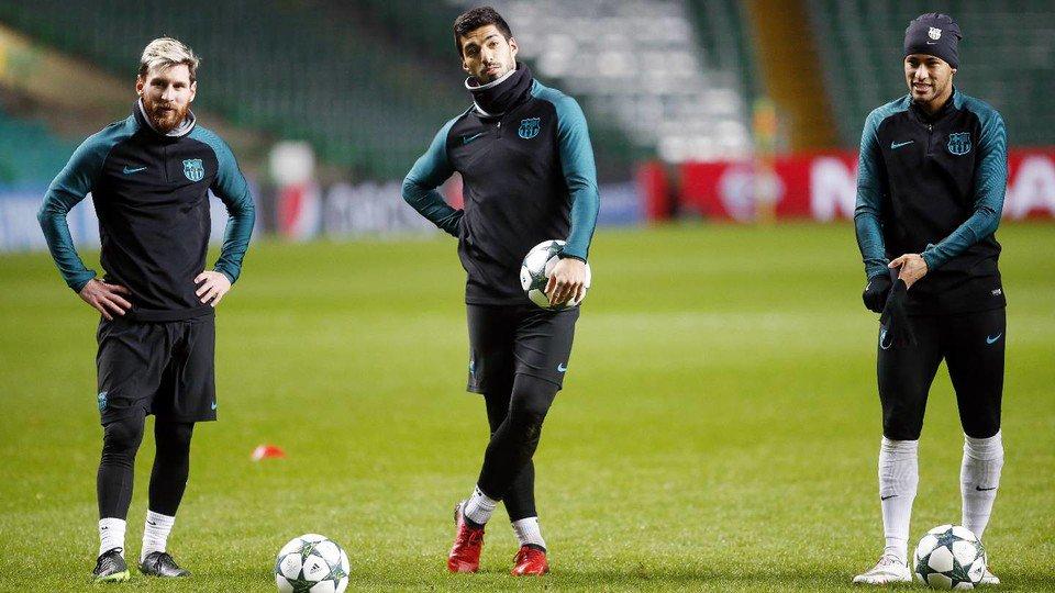 گزارش تصویری - آخرین تمرین بارسلونا - دیدار با سلتیک