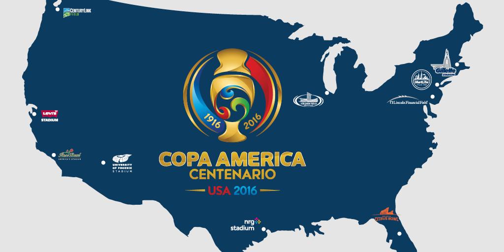 کوپا آمریکا 2016؛ ده ورزشگاه و یک جام