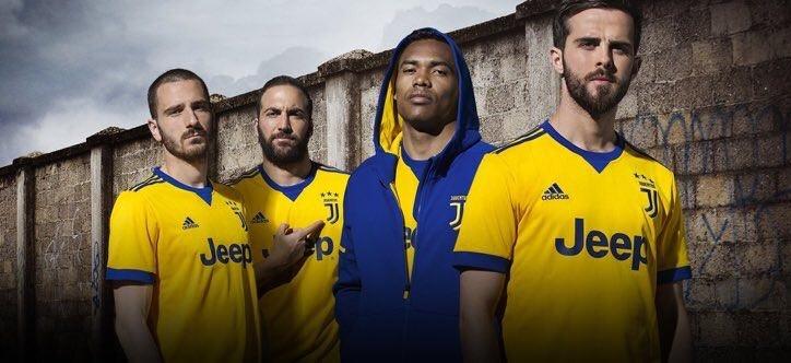 یوونتوس- پیراهن دوم یوونتوس- پیراهن زرد رنگ یوونتوس